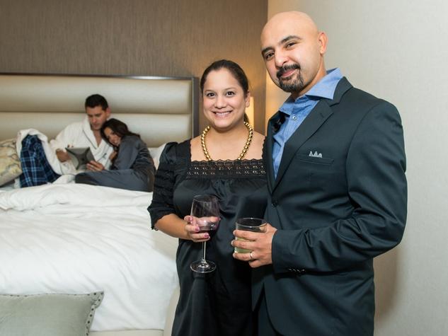 19 Joshua Tetrault, from left, Kara Houston, Carolyn Figueroa and Gonzo247 at the JW Marriott Houston Grand Opening November 2014