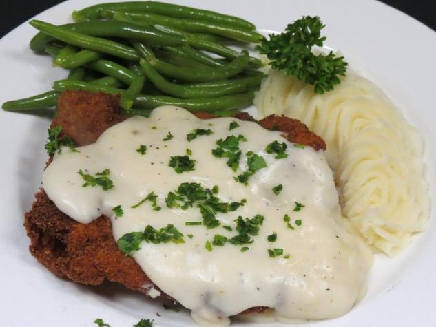 Chicken fried steak at Marcus Cafe