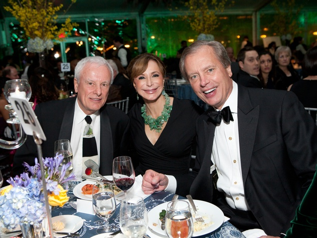 25 Nick Smeloff, from left, Sharon Adams and David Dewhurst at Gala on the Green February 2014