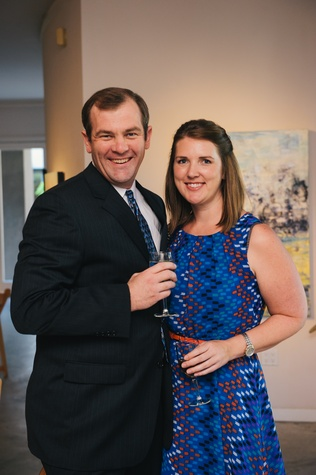 0023 4 Gerrit Leefrint and Karen Rugaard at the Houston Symphony's Young Associates Council season kick-off August 2014