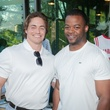 Brandon Siegmund, left, and Evan Hawkins at the Urban Green Birthday en Blanc May 2014
