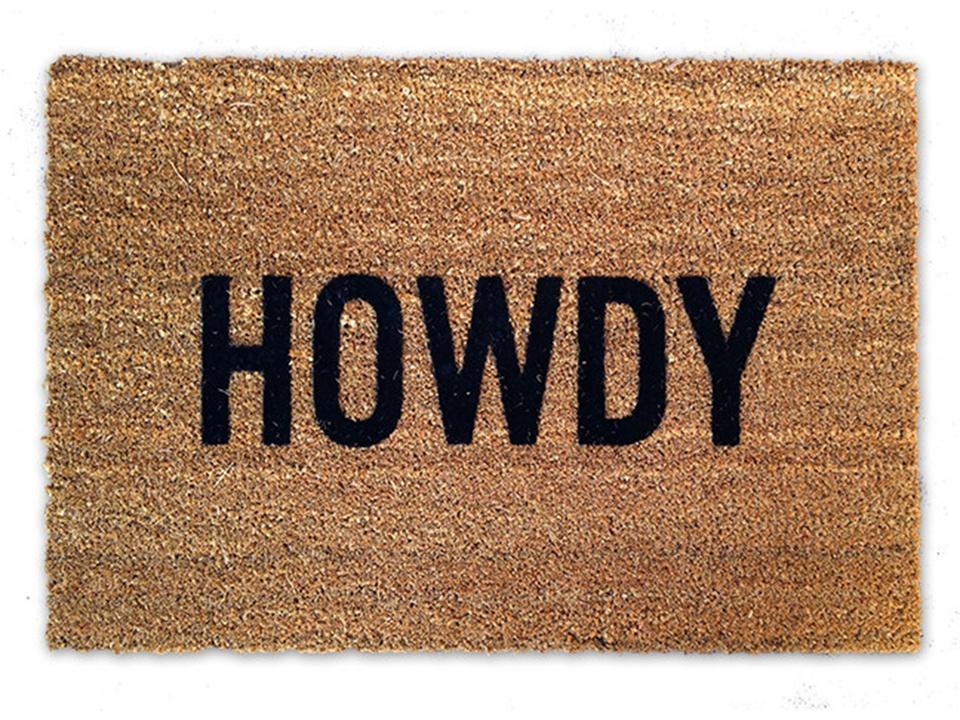 Rodeo Houston Quick Fix howdy door mat