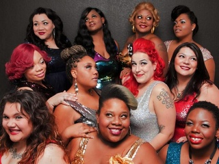 dancers and performers of the Fat Bottom Cabaret troupe of Austin