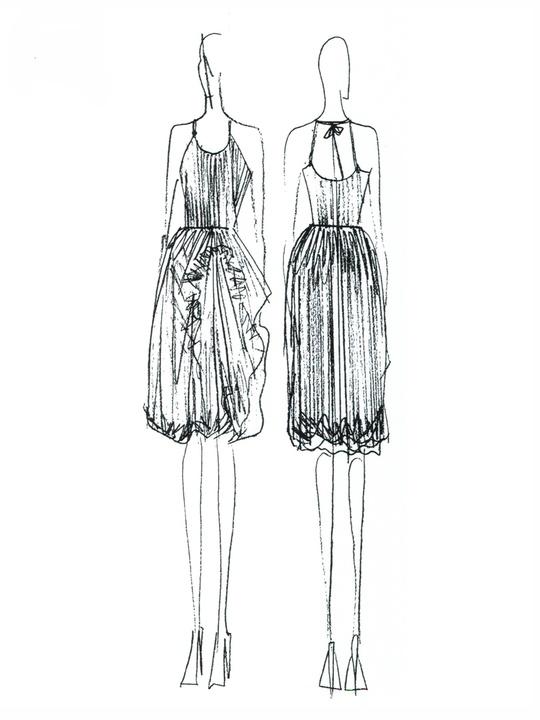 Fashion Week fall 2013, sketches, January 2013, Czar by Cesar Galindo