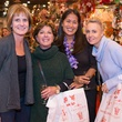 21 Mary Whalley, from left, Chelle Shutts, Grace Kim and Betty Costantini at The Nutcracker Market preview party November 2014