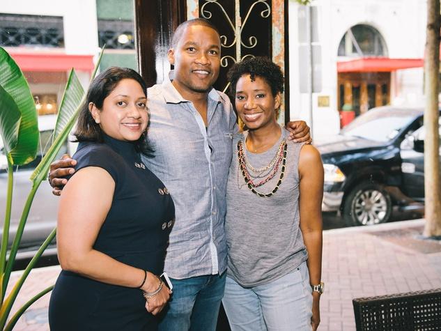 11 Dine Around Houston at Batanga September 2013 Veena Chandrakar, Washington Sereatan, Yvette Thomas