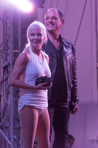 714 Amy Ell and Jose Sanchez at the Vault Light as Air fashion show January 2015