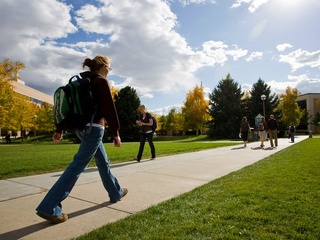 Walking on campus
