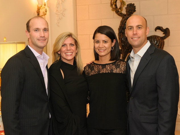 Todd and Courtney Westerburg, Claire and Stephen Raggio, trains of northpark sponsor party