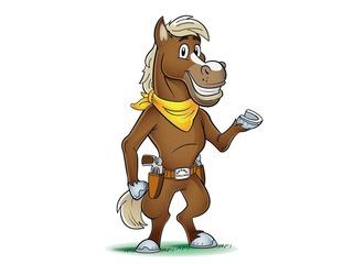 Grand Texas theme park horse mascot HORIZONTAL