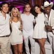 Horacio Moros, Ashley Sherrell, Richard Hill, Briana Rabelo, Junior Desinor, white party