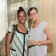 Raiya Young, left, and Jaime Ratliff at the Curry Crawl May 2014