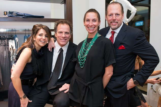 Kara and Ray Childress, from left, and Lisa and Michel Holthouse at the Tootsies Love's in Fashion event February 2015
