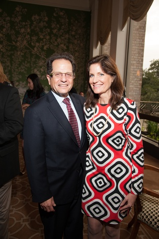 6 Drs. Robert Phillips and Julia Andrieni at the Houston Heart Ball Kickoff at River Oaks Country Club October 2014