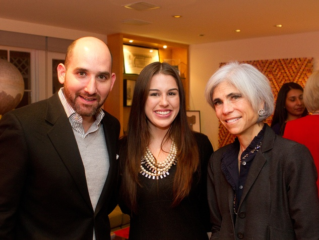 Eduardo Garza, from left, Jessica Crute and Judy Nyquist at the Aga Khan Foundation presentation January 2014