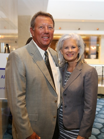 Bill Hunter and Rhonda Rogers Armor at the LSU Foundation luncheon June 2014