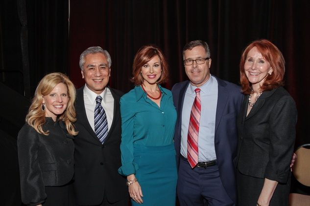 Dawn Koenning, from left, Bill Balleza, Dominique Sachse, Jerry Martin and Judy Howell at the National Philanthropy Day Awards November 2014