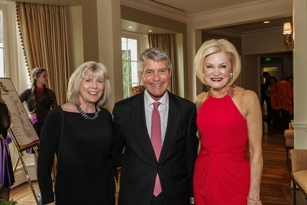 Caroline Sabin, from left, Bill Sabin and Jo Furr at the Young Audiences of Houston Gala April 2014