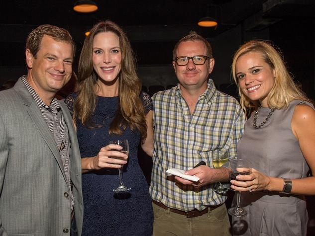 Brad and Brenda Jones, from left, Henrik Anton and Daniela Sanchez at George Lancaster's birthday bash October 2013
