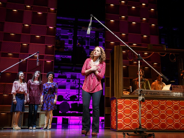 2 Broadway at the Hobby Center January 2015 Jessie Mueller as Carole King and cast in Beautiful - The Carole King Musical. Original Broadway Cast