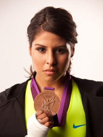 Marlen with medal