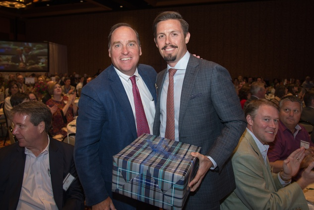 Jack Daniel, left, and Lad Rack at the Council on Alcohol and Drugs luncheon May 2014