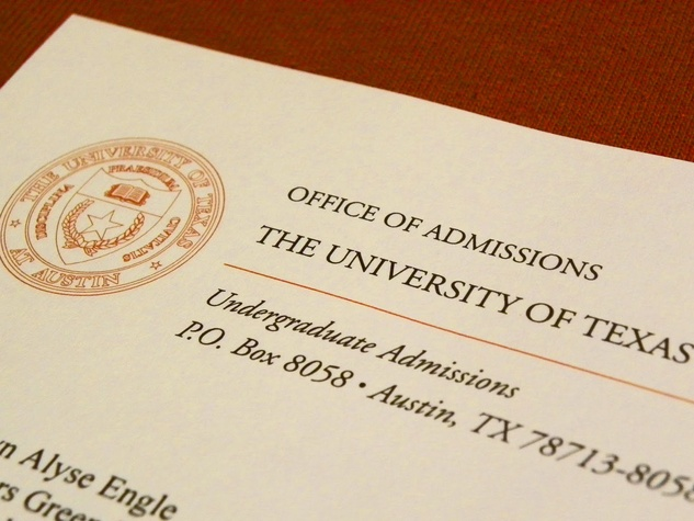 University of Texas, admissions, acceptance letter