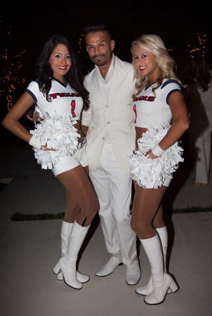 Texans White Out, Houston Texan cheerleader, Tod Ramos,,  Sept. 2012