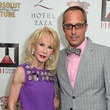 Diane Lokey Farb and Mark Sullivan at the Fashion Houston Launch Party October 2013