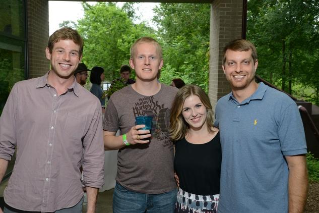 Houston Arboretum Evergreen party, May 2015, Chris Holis, Justin Skrobarczyk, Lori Lang, Ryan Conkin