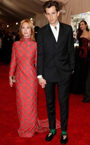 Josephine de la Baume and Mark Ronson in Topshop at Met Costume Institute Gala