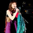 Fiona Apple, singer, at mic