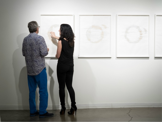 Howard Rachofsky, Annabel Daou, Emily Steele, Billy Hassell, David Markus, Annabel Daou, Conduit Gallery party