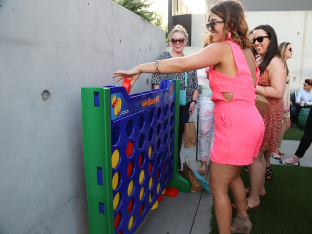 CultureMap Social The W Hotel Wet Deck Connect Four Cynthia Mattiza