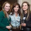 104 Liz Anders, from left, Nicole Zarr and Lauren Bush Lauren at The Kinkaid School Alumni luncheon March 2015