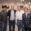 2 7619 Neal McCoy, from left, Matt Shipman, Goose Gossage and Jay Hamby at the Lucchese Grand Opening February 2015