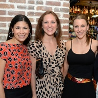 1 Houston Young Professionals and Ballet Barre kickoff event September 2013 Kristy Bradshaw, Lindsey Brown, Derith Cass, Divya Brown