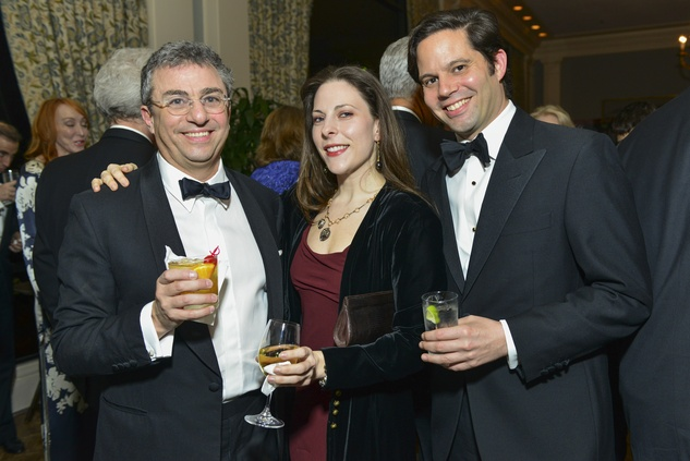 Michael Zilkha, from left, Ann Trione and Alexander Regier at the Inprint Poets & Writers Ball February 2014