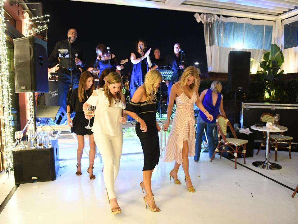 Houston, B&B Butchers & Restaurant Partini with Amschwand Sarcoma Cancer, June 2017, dance floor