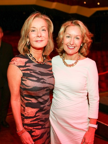 Melanie Gray, left, and June Christensen at the SPA luncheon October 2013