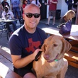 Brandon Bergeron and Bowser at Friends for Life Texans TAILgate party November 2013