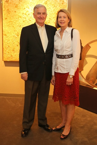 14 Warren and Christine Cole at the Meredith Long Kenneth Noland opening September 2014