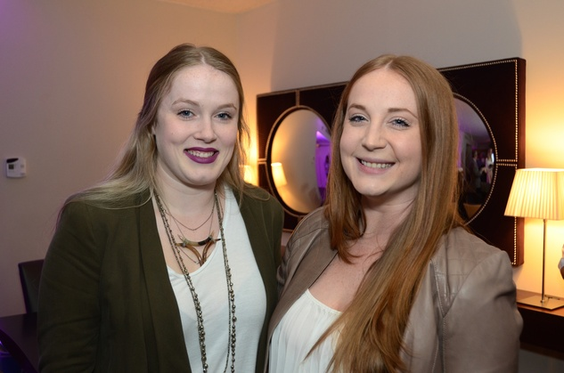 Rebecca Wright, left, and Racheal Wright at the Flavour launch at Hotel Derek February 2015