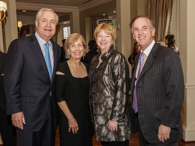 David Heaney, from left, Ann Lents and Leslie and Jack Blanton Jr. at the Young Audiences of Houston Gala April 2014