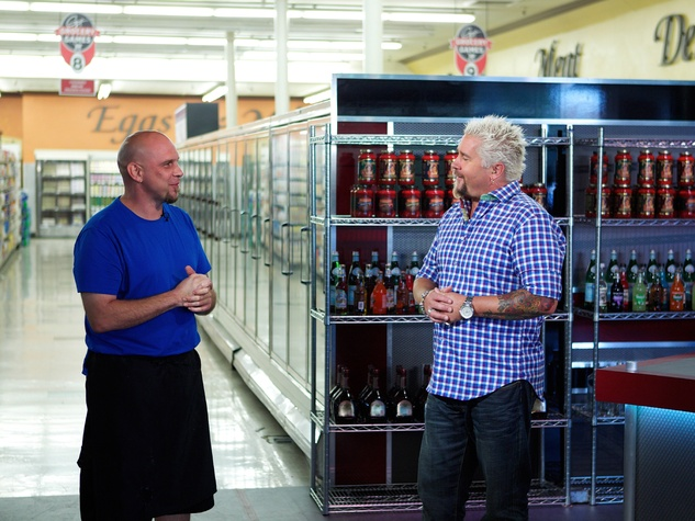 Shane Miller Guy's Grocery Games Shane Miller with Guy Fieri