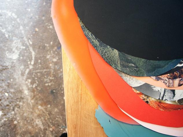 In the studio of Austin artist Xochi Solis