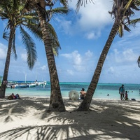 Belize beach scene
