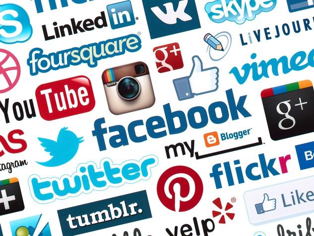 social media with media logos