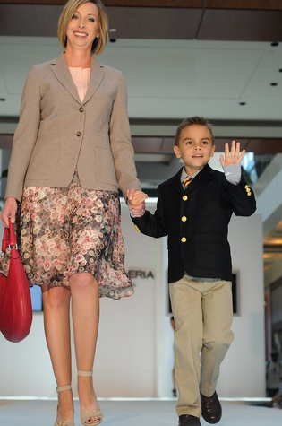 News, Shelby, MD Anderson Children's Fashions, August, 2014, Dr. Julie Segovia and Seth Thomas wearing Brooks Brothers