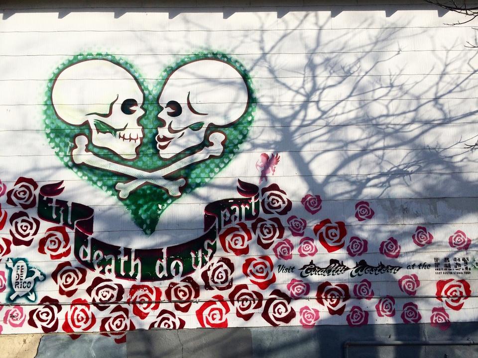 Street Art of Love and Heartbreak in Austin 2